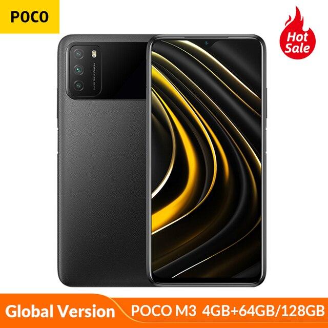 Smartphone POCO M3 Versão global  - 4GB RAM - 64gb/128gb - Snapdragon 662 Octa-Core- Bateria de 6000mah - Câmera de 48MP 1