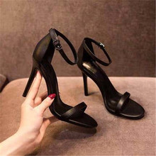 2020 Women Pumps Ankle Strap Shoes For Sexy Peep Toe Heels Sandals Party Wedding Woman High Heels Luxury Zapatos Black Apricot green velvet deep v front high heels sexy peep toe women ankle boots women pumps wedding dress shoes woman valentine shoe