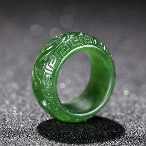 Natural green jade rings jaspe