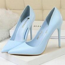 2021 donna Sexy Fetish 10.5cm tacchi alti Scarpins scarpe donna blu rosa giallo Stiletto matrimonio san valentino pompe di lusso progettate