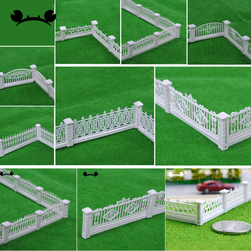 Model Train Railway Building Fence Wall 1/100 1/200 HO Z Scale 100cm Length