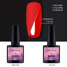 Top And Base Coat Primer 2pcs/Set Long Lasting 8ml Soak Off LED UV Top Base Coat Gel Salon Use No Wipe Top Base Nail Gel Polish