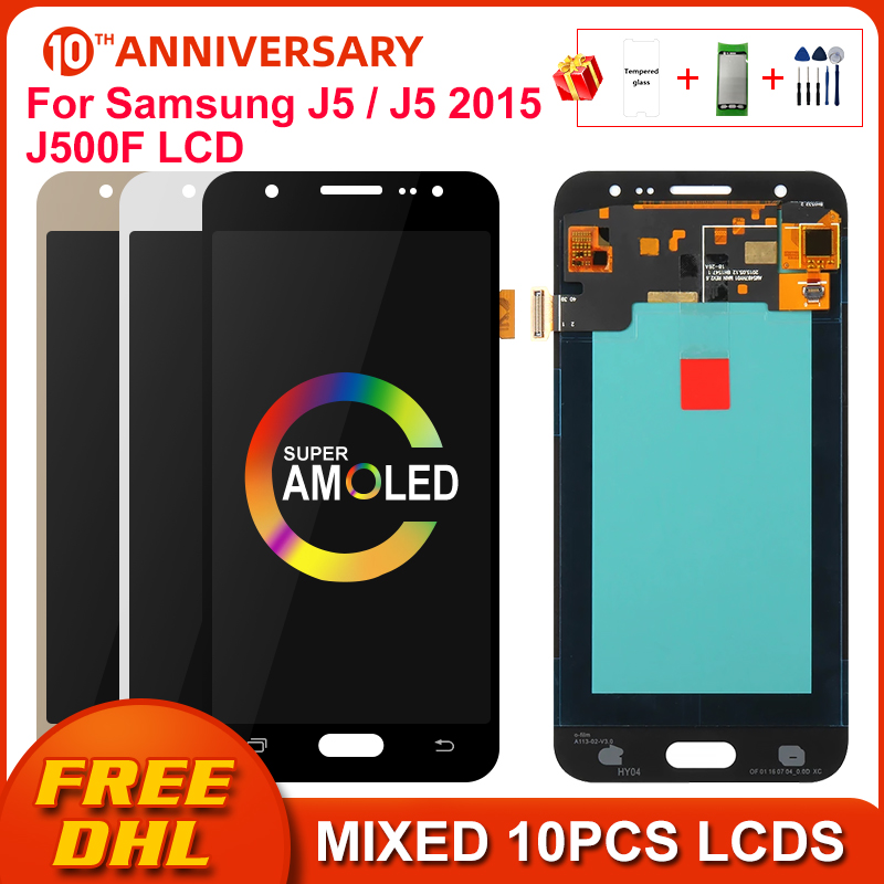 Super AMOLED LCD For Samsung GALAXY J5 2015 J500 LCD J500F J500FN J500M J500H Display Touch Screen Digitizer Replacement Parts