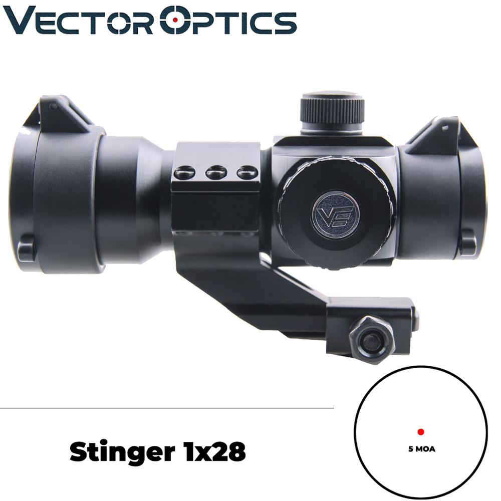 Vector Optics Stinger 1x28 High Quality Green Red Dot Scope With Killflash Filter Tactical Cantilever Mount Weapon Sight