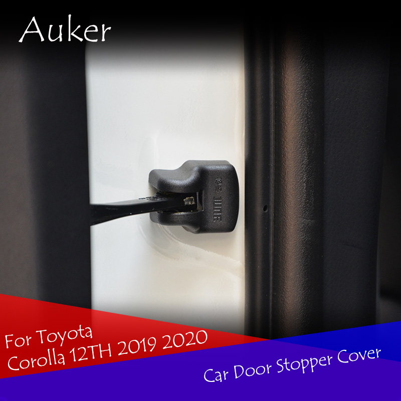 Car Style Door Stop Cover Outside Car Door Cap Protection Cover Auto Accessories 4Pcs/Set For Toyota Corolla 12TH 2019 2020