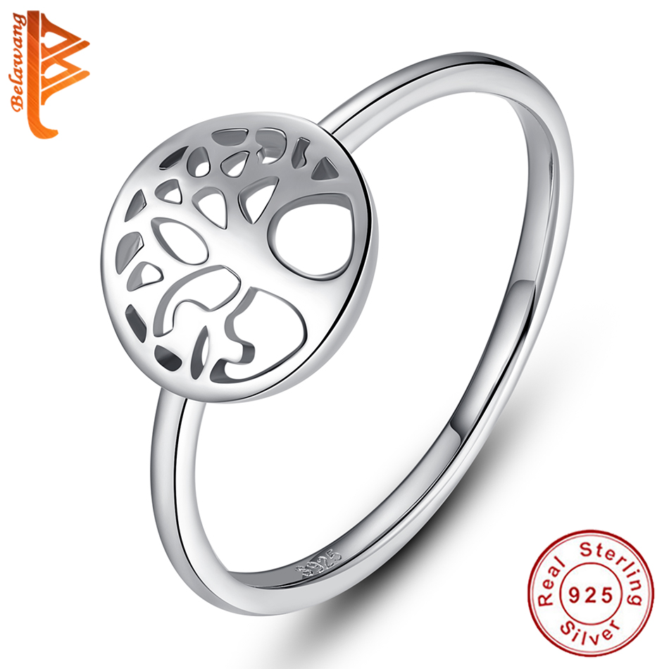 Classic Real 925 Sterling Silver Tree Of Life Finger Rings For Women Mom Mother' S Day Birthday Family Tree Ring Jewelry Gift