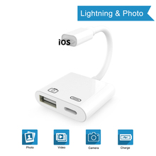 OTG Adapter For Lightning To USB 3 Camera Reader Connection Kits Data Sync Charge For iPhone X/8/7/7Plus/6/6S iPad/iPod iOS 13 кабель a data lightning usb для iphone ipad ipod 1м золотистый amfial 100cmk cgd