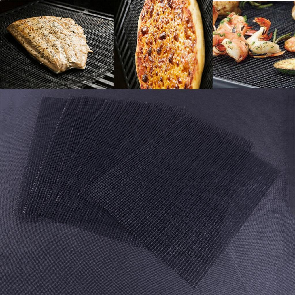 LETAOSK 5PCS Non Stick Teflon Outdoor BBQ Accessories Reusable Kitchen Cooking Mesh Grill Mat Sheet Liner