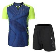 Быстросохнущие наборы для бадминтона, одежда для настольного тенниса, комплекты для пинг-понга, рубашки для настольного тенниса и шорты, сп...