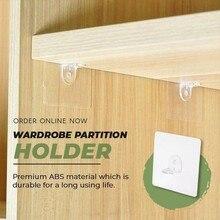 Partition-Holder Wardrobe Self-Adhesive hook Isolation Transparent Divider Layered