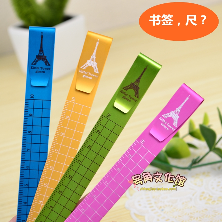 Eiffel Tower 10cm Bookmark Ruler Clip Ruler