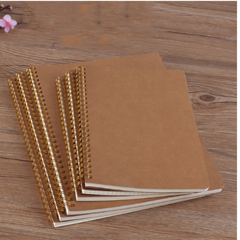 50 Sheets Blank Sketchbook Diray For Drawing Graffiti Painting Sketch Book Kraft Spiral Notebook Office School Supplies