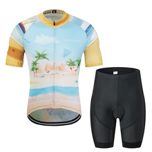 цены New pro team Men's cycling jersey set Short Sleeve 3D Print Bicycle Wear Road Bike Shirts Sport cycling Clothing breathable quic