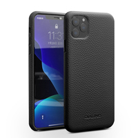 QIALINO Business Genuine Leather Case for iPhone 11 Pro Max Fashion Luxury Anti fall Ultra Thin Back Bag Cover for iPhone 11 Pro