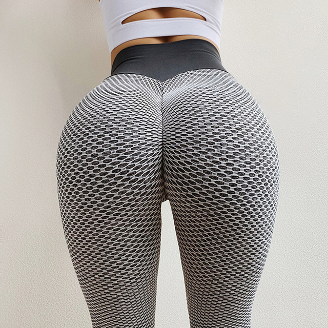 SALSPOR 3D Mesh Knitting Yoga Pants Women High Waist Push Up Seamless Sport Legging Gym Tights Quick Dry Running Fitness Pants 1