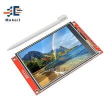 3.2 Cal moduł LCD 320*240 sterownik IC ILI9341 interfejs szeregowy SPI wyświetlacz TFT LCD plansza z dotykowym/bez panelu dotykowego