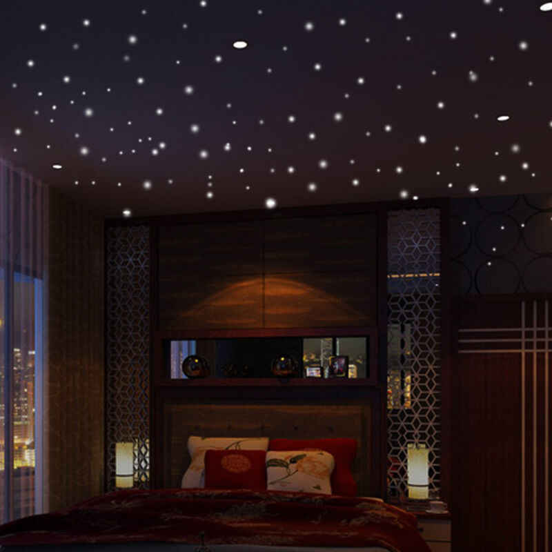 407pcs Glow in the Round Dot Dark Star Stickers Luminous Vinyl Wall Stickers Like Star In The Night Romantic Party Birthday