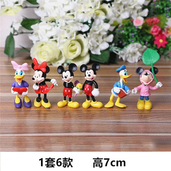 6PCS Disney Figures Mickey Mouse Minnie Mouse Clubhouse Birthday Party Cake Decoration PVC Action Figures Toys for Children DS10 цена 2017