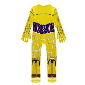 Image 5 - 子供衣装映画スターウォーズ衣装ロボット子供ハロウィーンの衣装子供のためのロボット男の子ヘッドギアカーニバル服