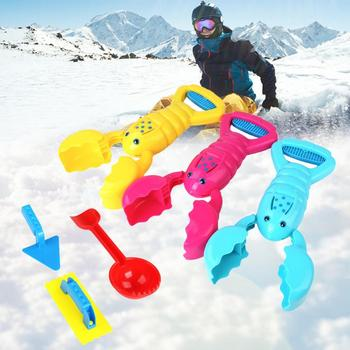Snowball Clamp Clip Cartoon Kids Funny Fight Toy Plastic Outdoor Snowball Maker Winter Sand Ball Mold Plastic Clamp Toys image