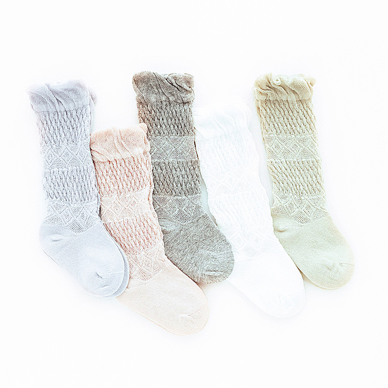 0 5 years old Summer mesh breathable cotton anti mosquito baby socks baby over knee children socks Girls Socks in Tights Stockings from Mother Kids