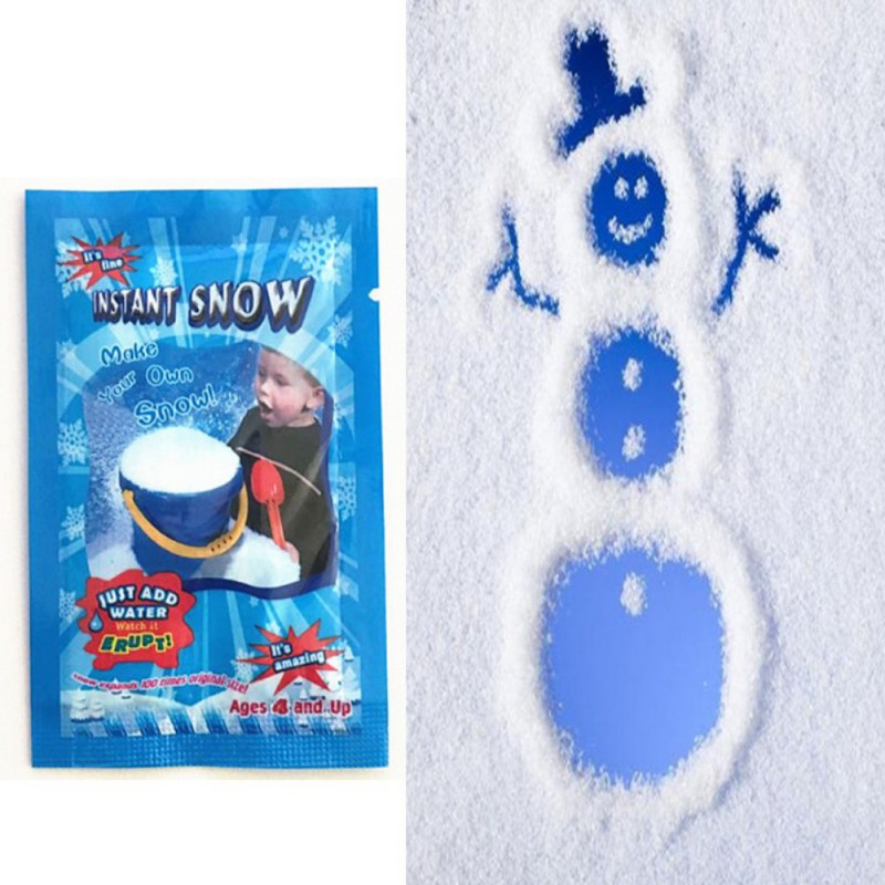 NEW Fake White Snow For Christmas Wedding Magic Instant Snow Fluffy Party Decor 10PCS