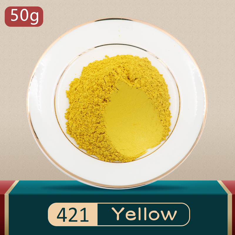 Type 421 Mica Pearl Pigment Powder DIY Natural Mineral Dye Colorant Powder for Soap Eye Shadow Autom