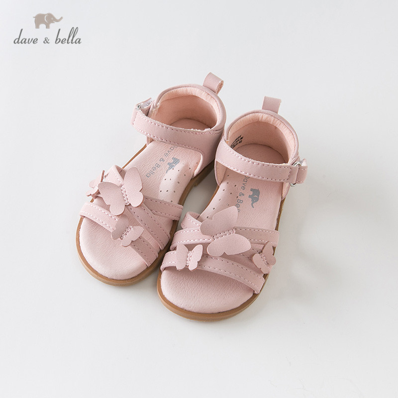 DB12855 Dave Bella Summer Baby Girls Fashion Sandals New Born Infant Shoes Sandals Butterfly Appliques Shoes