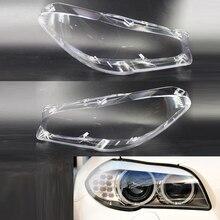 2 adet araba far PC şeffaf abajur Lens kabuk kafa lambaları dekorasyon kapağı için Fit BMW F10 LCI F18 2010 2014
