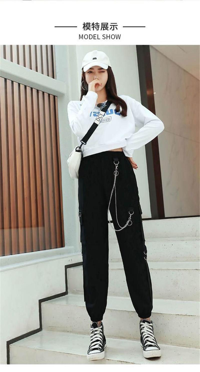 2021 Korean Clothes Baggy Trousers Winter Cargo Pants Women High Wasit Plus Size Sweatpants Harajuku Pants Jogger Mujer Pantalones From Jujubery 21 66 Dhgate Com