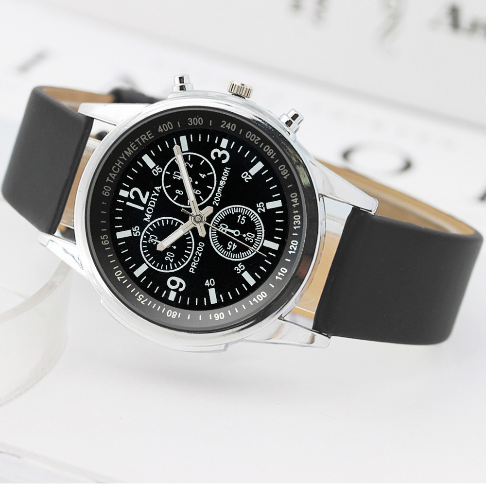 Business Watch 2021 Luxury Men's Leather Band Quartz Watch