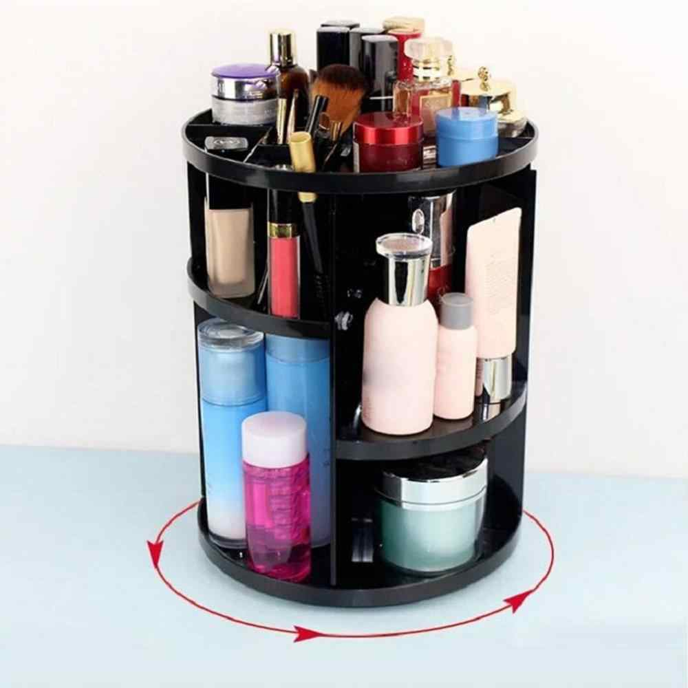 360-degree Makeup Organizer Drawer Brush Holder Jewelry Organizer Cosmetic Storage Box with pillbox gift