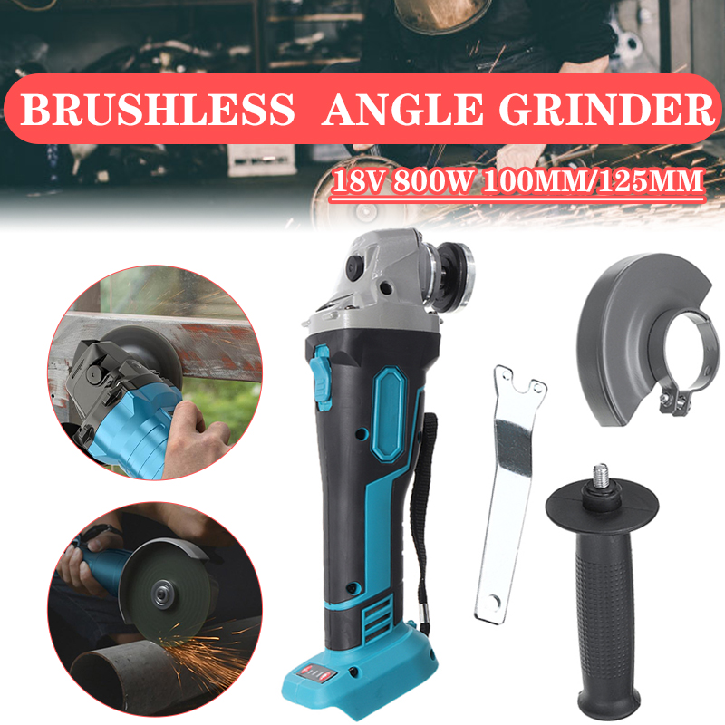 Tools : 800W 18V 100mm 125mm Brushless Cordless Impact Angle Grinder DIY Power Tool Cutting Machine Polisher Without For Makita Battery