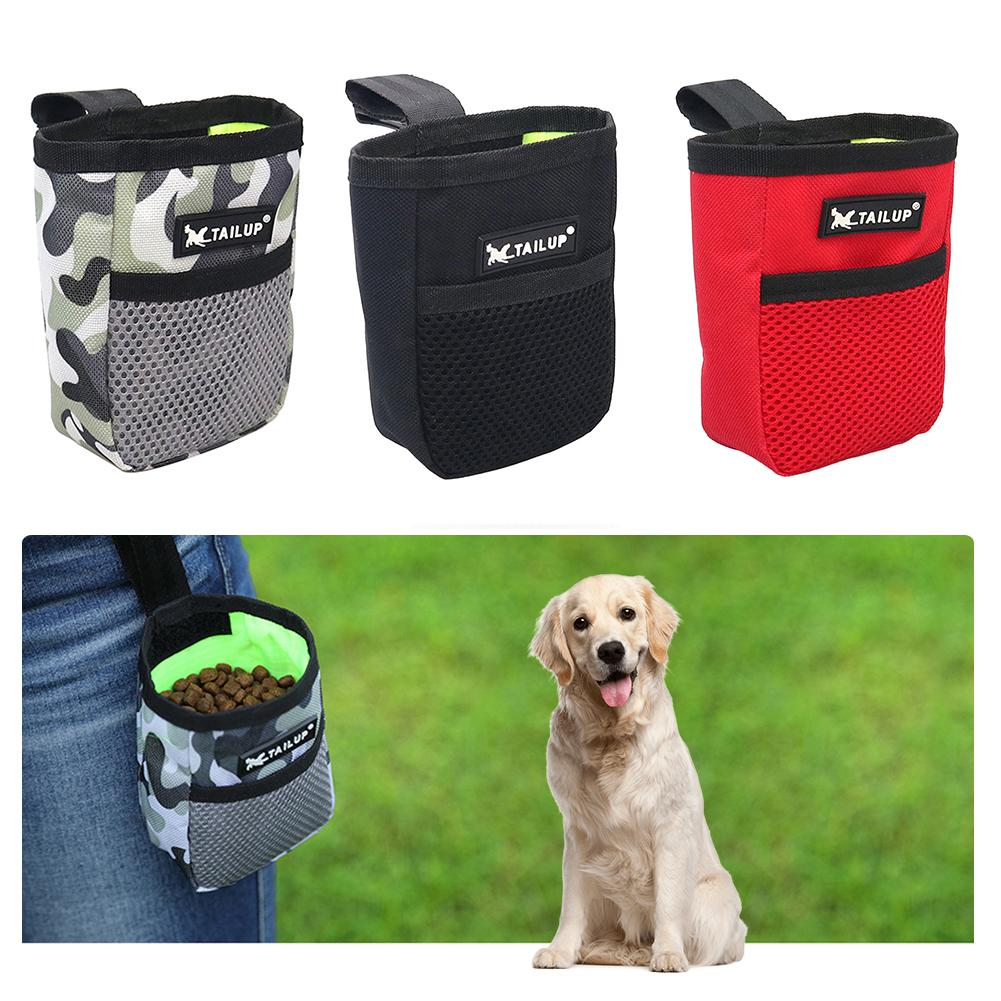Outdoor Portable Pet Dog Training Snack Bag Feed Reward Waist Treat Pouch