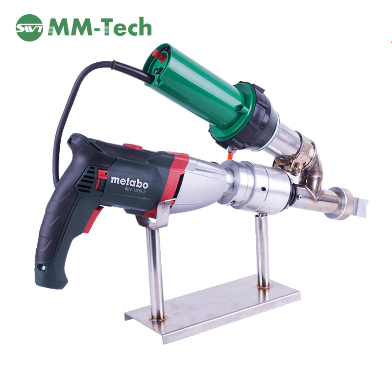 HDPE/PP/PE Plastic Extruder Soldering Plastic Extrusion Welder Hot Air Semi Automatic Welding Gun For Pipe