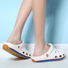 Женские нескользящие сандалии для пляжа Уличная обувь с отверстиями