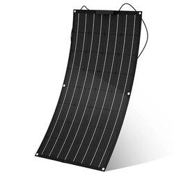 لوحة طاقة شمسية 300 واط 200 واط 100 واط 400 واط 12 فولت لوحة الطاقة الشمسية مرنة مونوكرسيتالين الخلايا الشمسية للسيارة البحرية البطارية الشمسية 12 فو...