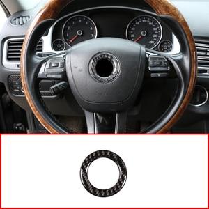 Real Carbon Fiber 3D Sticker Stuurwiel Panel Logo Cover Frame Voor Vw Golf 6 7 MK6 MK7 Jetta MK5 passat B6 B7 Polo Touareg