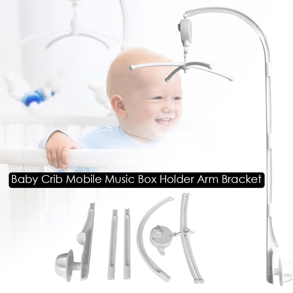<font><b>Baby</b></font> Music Box Rotary Mobile <font><b>Crib</b></font> Bed Clockwork Movement Mobile Musical Newborn Bell <font><b>Crib</b></font> <font><b>Holder</b></font> Arm Bracket Wind-up rattle <font><b>toys</b></font> image