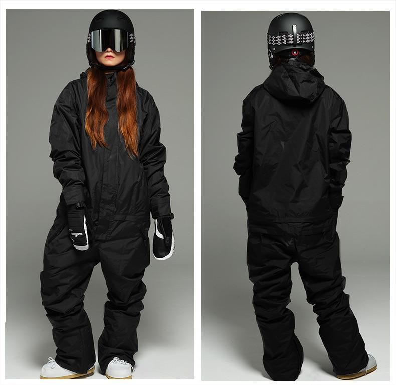 Adult One Piece Ski Suit Women Snowboard Suit Men Skiing Suit Windproof Waterproof Outdoor Sport Wear Unisex Clothing Jumpsuit