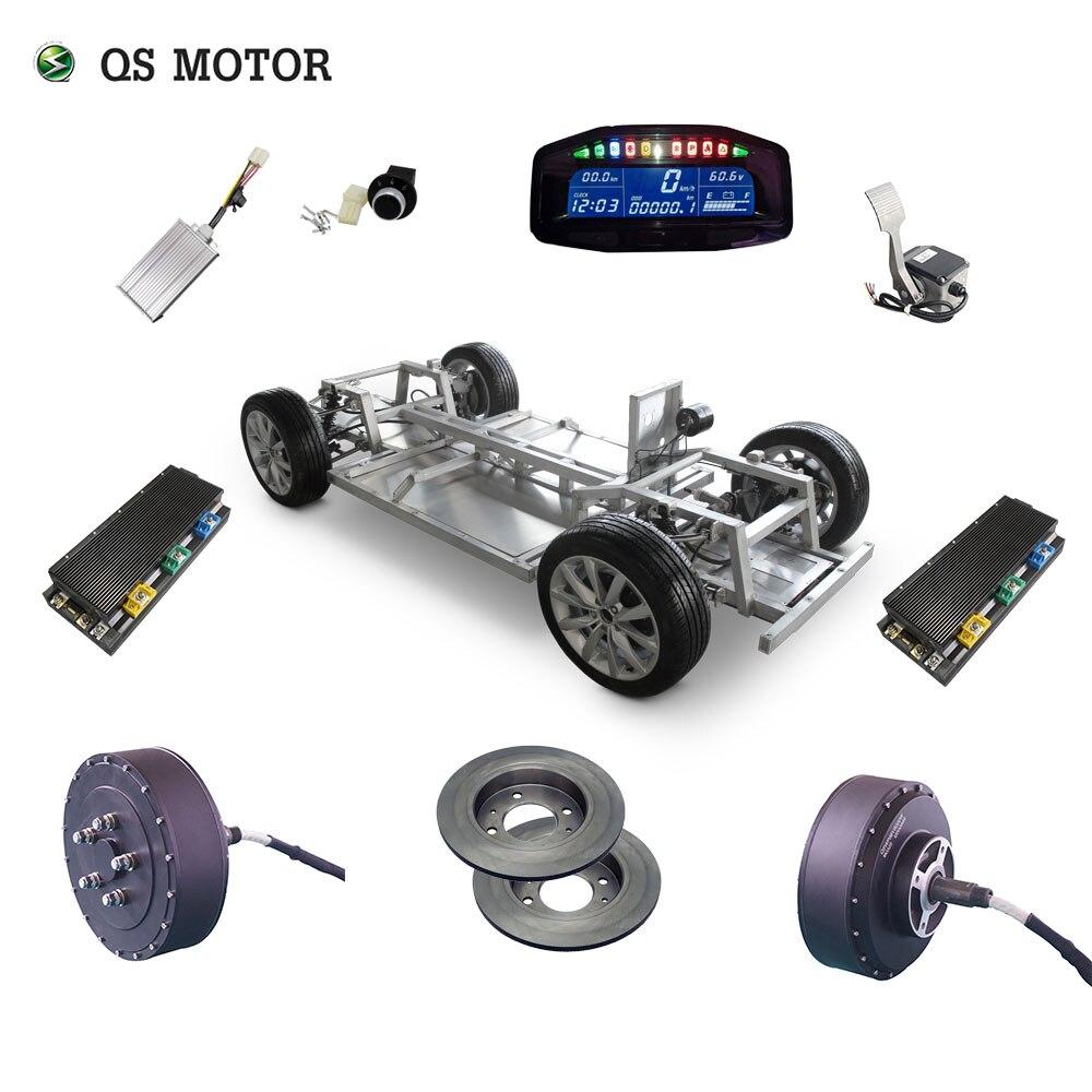 QS Motor 273 de 8000W 2wd 96V 115kph 72V 95kph 48V 67kph BLDC sin escobillas coche eléctrico hub motor kits de conversión con APT96600 motor
