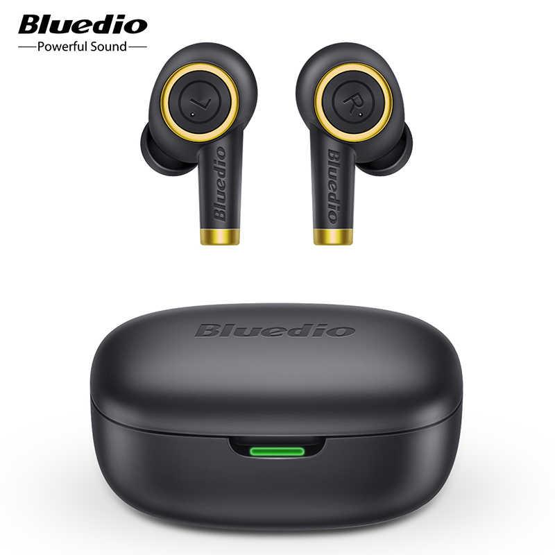 Bluedio 입자 무선 이어폰 블루투스 5.0 방수 이어 버드 무선 스포츠 tws 헤드셋 충전 박스