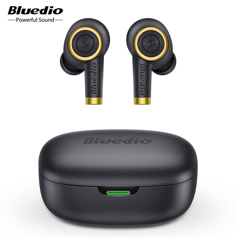 Bluedio Particle wireless earphone bluetooth 5.0 waterproof earbuds wireless sport tws headset with charging box|Bluetooth Earphones & Headphones|   - AliExpress