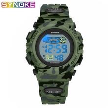 SYNOKE Sport Military Kids Watches Electronic Wristwatch Wat