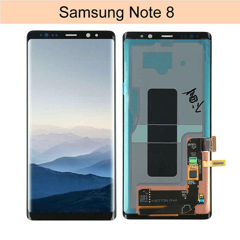 """סופר Amoled לסמסונג גלקסי Note8 הערה 8 N9500 N950FD N950U פגם Lcd תצוגת מסך מגע Digitizer הרכבה 6.3"""""""