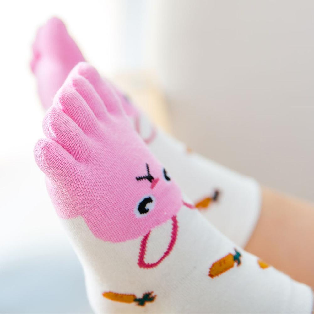 Toddler Five Fingers Sock Boys Girls Kids Baby Toe Socks Animal Hosiery Cartoon