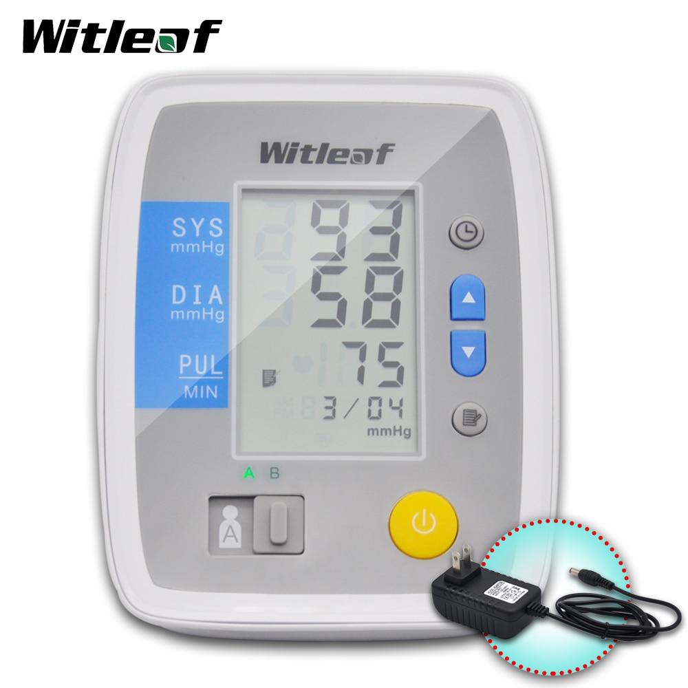 Tonómetro con Monitor de presión arterial, equipo médico, tensiómetro, esfigmomanómetro, pulsómetro, más grande, LCD