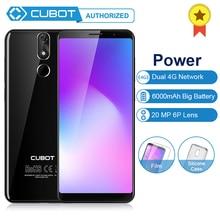 Cubot мощность 6 ГБ ОЗУ 128 Гб ПЗУ Android 8,1 18:9 5,99 'FHD+ полный экран MT6763T Восьмиядерный 6000 мАч телефон двойной 4G сеть 6P объектив
