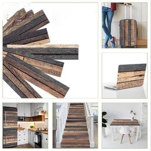 Деревянная напольная плитка, доска, настенная наклейка, сделай сам, ПВХ самоклеящаяся кухня, ванная комната, гостиная, домашняя наклейка, во...