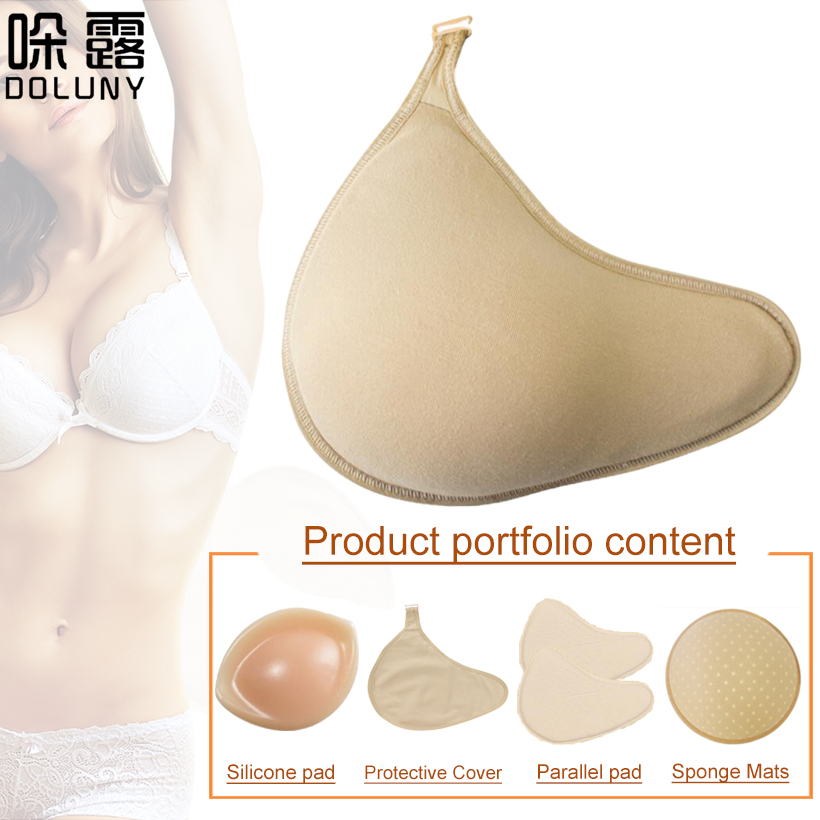 Fake Breast Forms Sponge Breast Prosthesis Lightweight Assemble Silicone Breast Pad / Cover / Sponge Pad Extend Long Shape